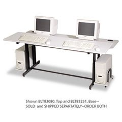 Training Table Base, 72w x 36d x 33h, Gray (Box Two) (Split Level Computer Training Table)