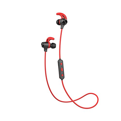 Edifier W280BT Stereo Bluetooth v4.1 Headphones Earphones for Fitness, Running, Working Out Sweatproof   Red