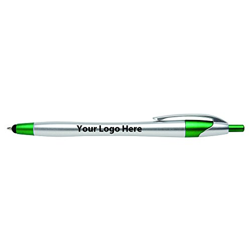 Javalina Chrome Stylus Pen with Blue Ink - 300 Quantity - $0.65 Each - PROMOTIONAL PRODUCT / BULK / BRANDED with YOUR LOGO / CUSTOMIZED (Pens Promotional Ink)