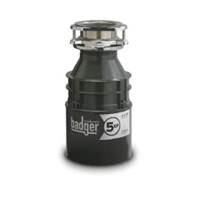 In-Sink-Erator/Masterplumber BADGER5XP Badger 5XP Heavy-Duty Dura-Quiet Food Waste Disposer, 3/4-HP