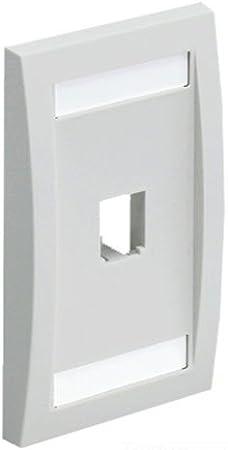 GraybaR Panduit CF1064IWY 4-Port 4-Module Space Plastic Module Frame Off White