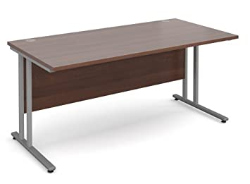 Corfield 1600mm Wide Office Desk Available In Beech, Maple, Oak, White Or  Walnut