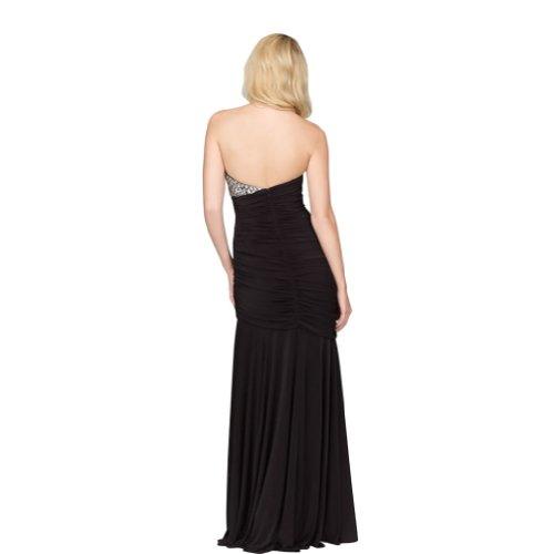 Schwarz Schwarz Liebsten Chiffon bodenlangen Meerjungfrau GEORGE Trompete Abendkleid BRIDE F0ff8