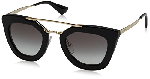 Prada PR09QS 1AB0A7 Women's Cinema, Black Frame, Gray Gradient 49mm (Prada Sunglasses)