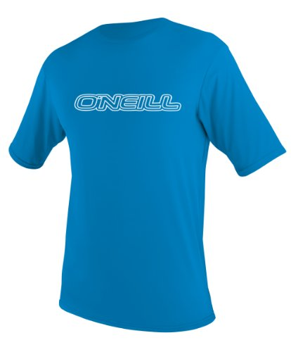O'Neill Wetsuits UV Sun Protection Toddler Basic Skins Short Sleeve Tee Sun Shirt Rash Guard, Bright Blue, 2 (Pro Rash Sleeve Guard Short)