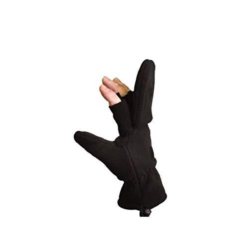 Black Us Military Winter Sniper Shooting Hunting Mittens Fingerless Gloves