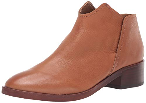Dolce Vita Women's Trist Ankle Boot, Cognac Leather, 10 M US