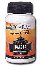 Solaray - Bacopa Ayurvedic Herbs, 100 mg, 60 capsules