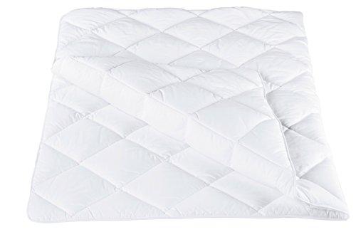ZOLLNER® allergikergeeignete Bettdecke / Steppbett / Steppdecke 135x200 cm, Füllgewicht: ca. 1100 g, vom Hotelwäschehersteller, Serie