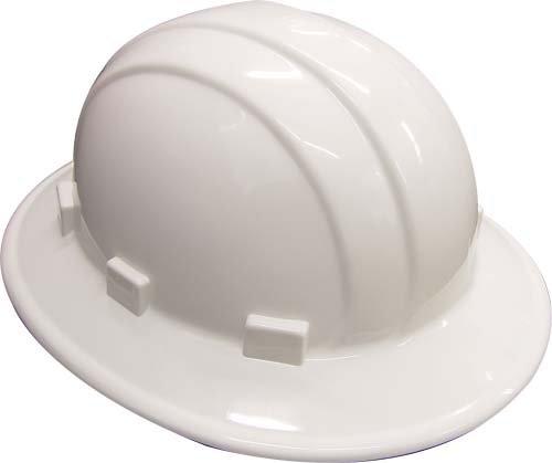 Erb 19911 Casque de chantier Large rebord R/églable Blanc
