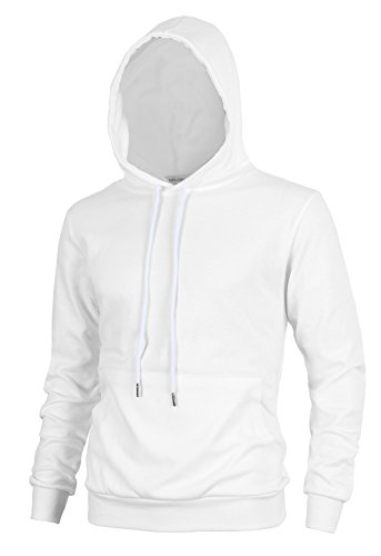 - Lite Delights Delight Men's Fashion Fit Hoodie Pullover with Kanga Pocket(US Small, Ivory)