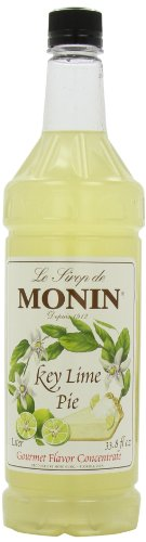 Monin Flavored Syrup, Key Lime Pie, 33.8-Ounce Plastic Bottles (Pack of 4)