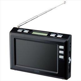 【まとめ 2セット】 YAZAWA 4.3インチディスプレイ ワンセグラジオ(ブラック) TV03BK   B07KNRQ5FQ