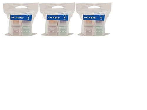 Cottage Mills Dot Box Refill Boxes, 4/Pkg, Large 1-1/4-Inch by 1-1/4-Inch by 1-1/4-Inch