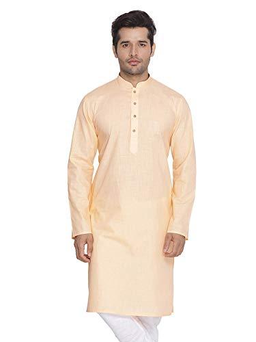 Elina fashionMen's Tunic Cotton Kurta Pajama Set Indian Traditional Wear