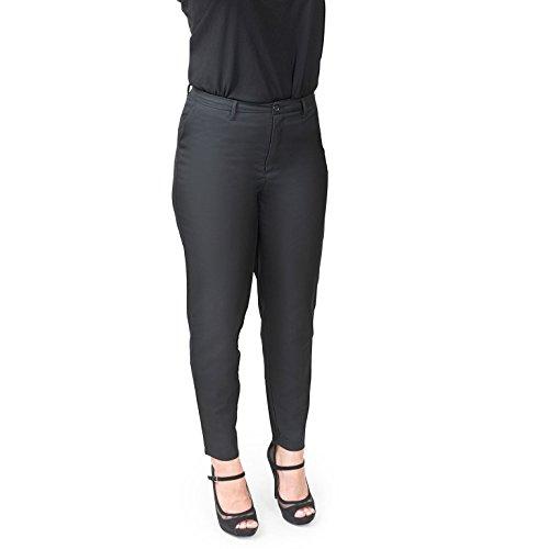 Women's Petite Classic High Waist Trousers (Large, Black) by Cin Cin (Image #1)