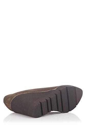 Moretti Scarpe Donna Marrone col Wedge Tacco Shoes Laura ZdxqCq