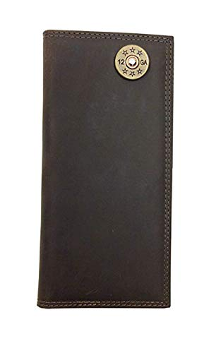(Zep-Pro Light Brown Crazy Horse Long Roper Wallet, Shot Gun)