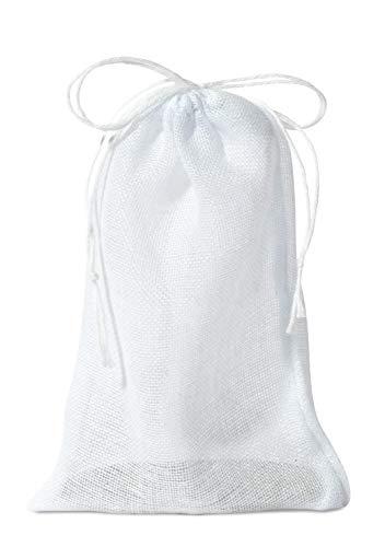 Dhana Bhogya Cotton Drawstring Bag Set:100-Pack Muslin Bags 3