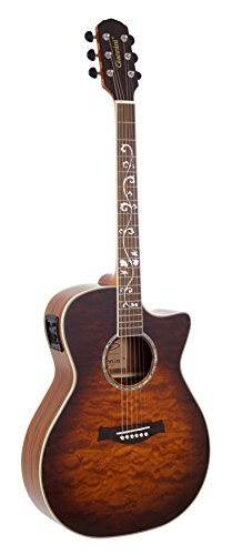 Giannini Guitars GS-1QM CEQ VS Maple Neck Acoustic-Electric Guitar
