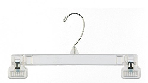 "NAHANCO 6010 Clear 10"" Pinch Grip Bottom Hanger (Pack of 200)"