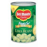 Del Monte Green Lima Beans, 15.25oz Can (Pack of 6)