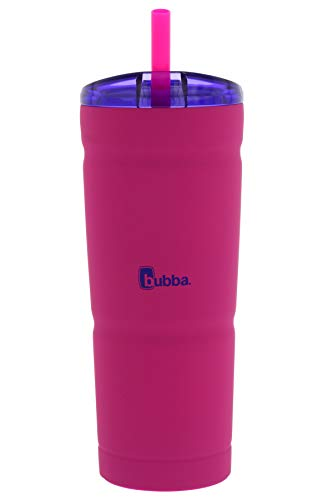 Bubba Envy S Insulated Stainless Steel Tumbler with Straw, 24oz-Ideal Travel Mug that is Stain, Sweat, and Odor Resistant-Insulated Water Bottle to Take on the Go - Beach Babe/Boho Purple