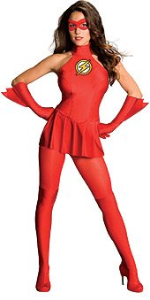 Secret Wishes  The Flash Costume, Red, (Superhero Halloween Costumes For Women)