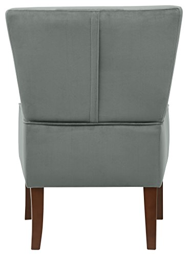Rivet Ashworth Armless Velvet Accent Chair, Smoky Teal