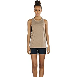 icyzone Yoga Tops Activewear Workout Clothes Sports Racerback Tank Tops for Women(M,Black/Beige/Pale Blush)