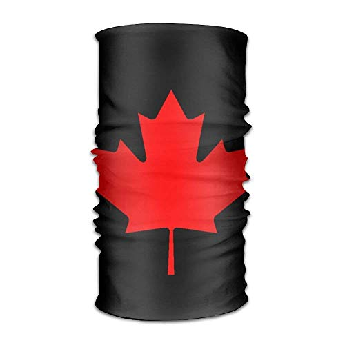 Funny Customize Head Scarf Canada Maple Leaf Daily Including Running Hiking Headband Multipurpose Face Mask Outdoor Hairwraps Head scarfs for Adults Teens Headwear