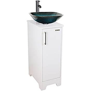 23 Inch Modern Bathroom Vanities Tempred Glass Design
