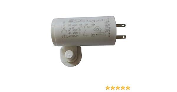 Condensador motor 4 µF – 2 terminales para 2.8 mm: Amazon.es: Industria, empresas y ciencia