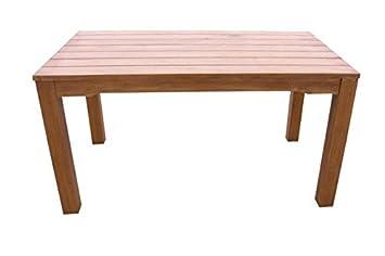 Gartentisch Holztisch Gartenmöbel 130x80 Garten Esstisch Tisch Eukalyptus  Geölt