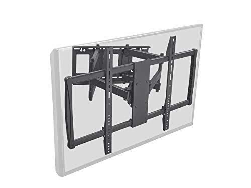Monoprice Stable Series Full-Motion Articulating TV Wall Mount Bracket - TVs 60in to 100in Max Weight 178lbs Extends from 2.8in to 24.6in VESA Up to 900x600 Rotating Concrete & Brick No Logo