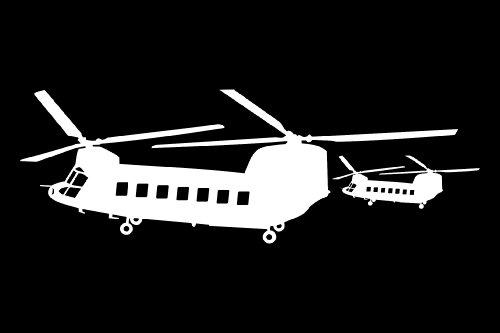 JnM Vinyl Studio Chinook Set of 2 Helicopter Decals White