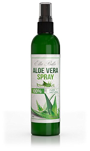 Aloe Vera 100% Liquid Spray - Organic 8oz Bottle - For Skin, (Georges Aloe Vera Lotion)