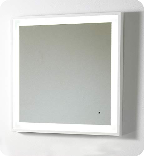 Bathroom mirrors and lighting Contemporary Image Unavailable Centralazdining Amazoncom Fresca Platinum Fpmr7564wh Napoli 32