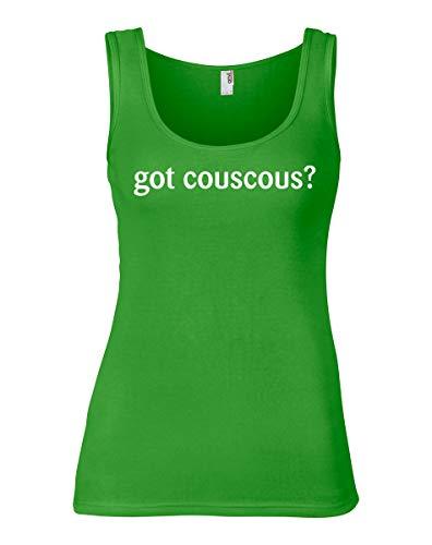 shirtloco Women's Got Couscous Tank Top, Green Apple Large