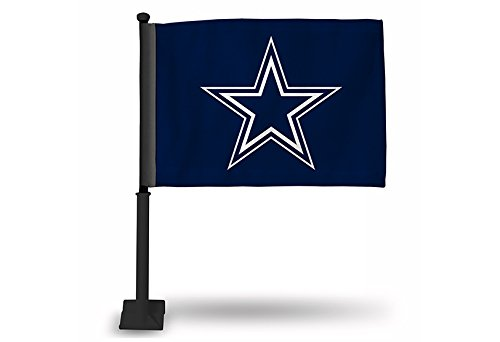 Rico NFL Dallas Cowboys Car Flag with Black Pole by Rico
