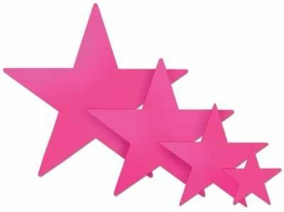Foil Cerise Stars - Cerise Foil Star (5 inch)