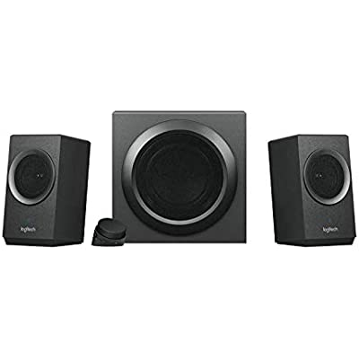 Logitech Z337 Wireless Bluetooth 2 1 Speaker System with Subwoofer  Bold Sound  Watts Peak Power  Strong Bass  3 5mm Audio and RCA Inputs  Control Pod  PC PS4 Xbox TV Smartphone Tablet Music Player