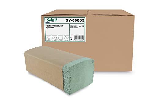 Papieren handdoek ZZ/V-vouw 1-lg, Rec.Green