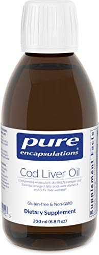 Pure Encapsulations – Cod Liver Oil – Molecularly Distilled with Naturally Occurring Vitamin A & D – Lemon Flavor – 200 ml (6.76 fl oz) Review