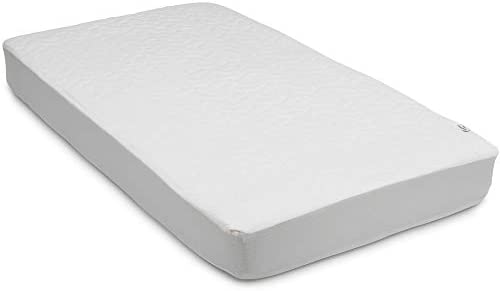 White Serta Sertapedic Crib Mattress Pad Cover//Protector with Nanotex Stain Repel and Release