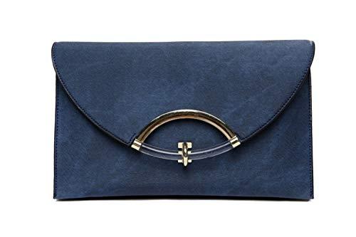 enveloppé à la Serrure Main Royal Un est dans Madame Bleu Sac 29x3x17cm Bordeaux EfYpnrqYw