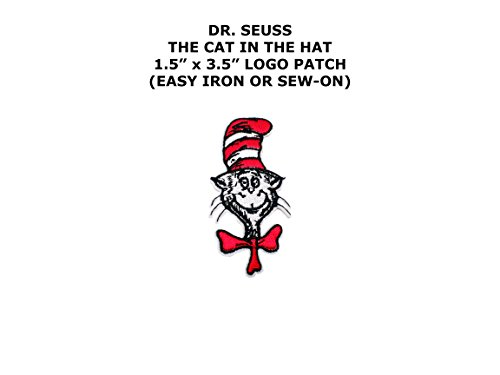 [Dr. Seuss The Cat In the Hat Iron or Sew-on Cartoon Patch By Superheroes] (The Wolverine Alternate Costume)
