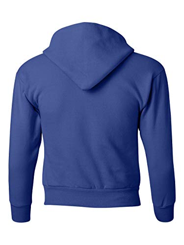 Hanes Youth EcoSmart Pullover Hood, Deep Royal, Large by Hanes (Image #3)