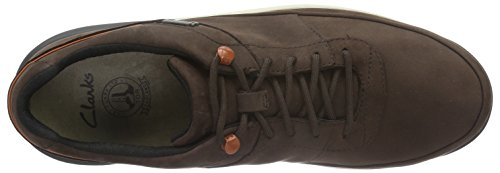 Clarks Johto Lace GTX, Scarpe Stringate Uomo Marrone (Dark Brown Nubuck)