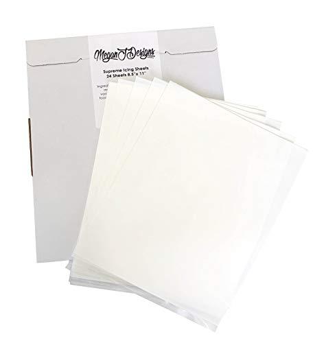 - Supreme Icing Sheets 24 Pack Premium White 8.5